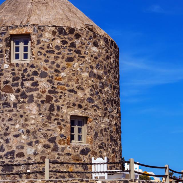 """Architecture details of Imerovigli village, Santorini, Greece"" stock image"
