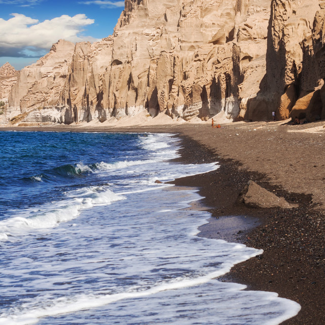 """Vlychada beach on Santorini island, Greece"" stock image"