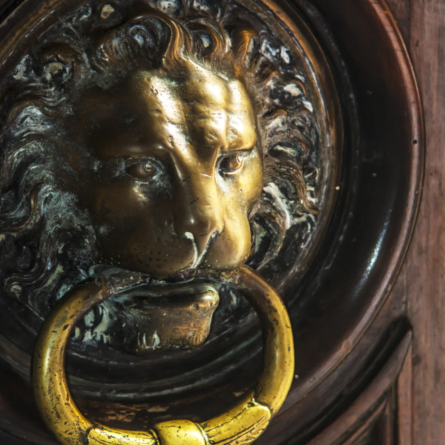 """Door Knocker - Provence."" stock image"