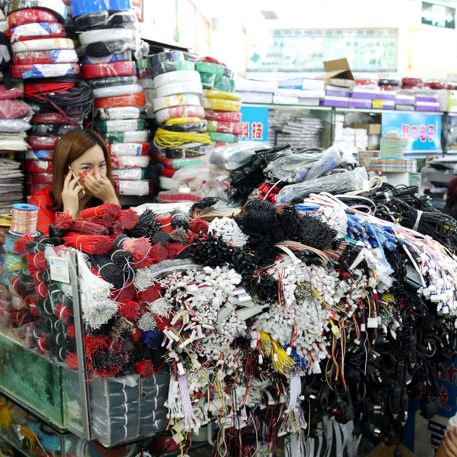 """Huaqiangbei electronics market, Shenzhen"" stock image"