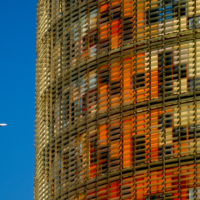 """Agbar Tower in Barcelona"" stock image"