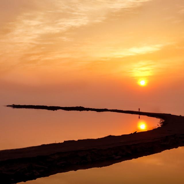 """""""Path Into the Dead Sea"""" stock image"""