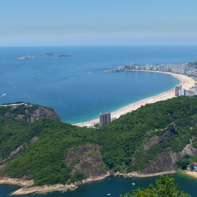 """Copacabana, Rio, aerial view"" stock image"