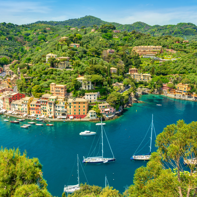 """Landscape Portofino Liguria Italy"" stock image"
