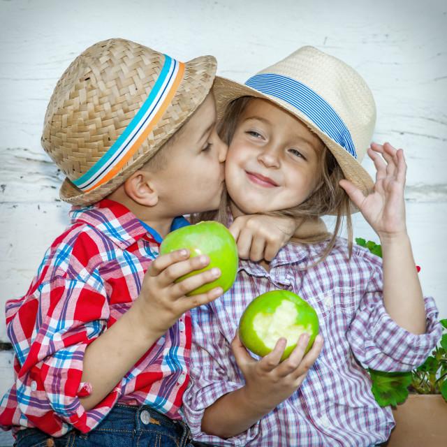 """""""Happy Kids Love Couple"""" stock image"""