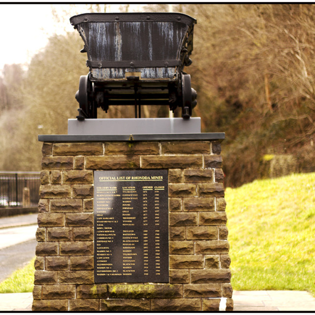 """Miners' Memorial"" stock image"