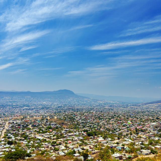 """Cityscape of Tuxtla, Chiapas"" stock image"