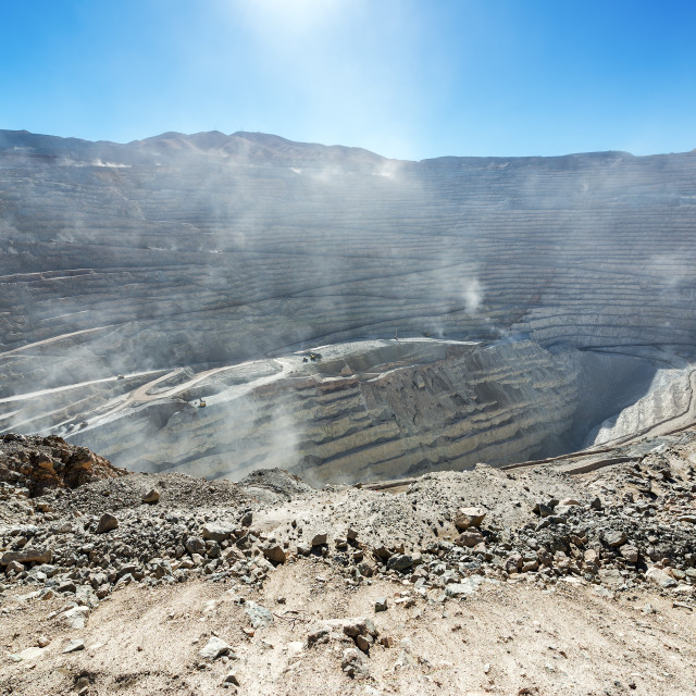 """Chuquicamata Mine View"" stock image"