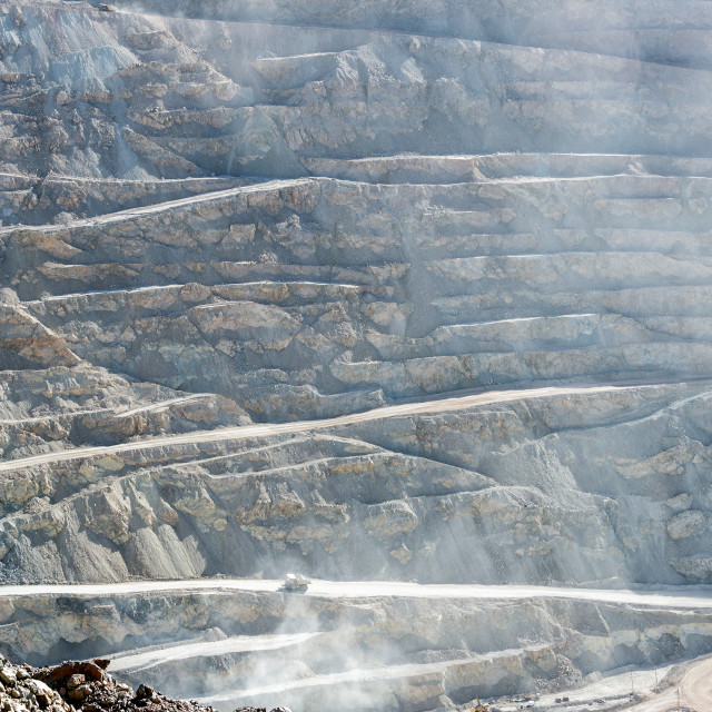"""View of Chuquicamata Copper Mine"" stock image"