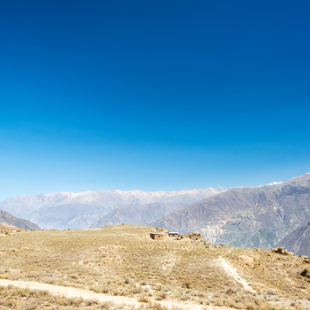 """Colca Canyon and Blue Sky"" stock image"