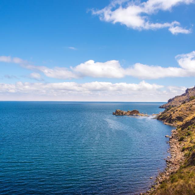 """Lake Titicaca Coastline"" stock image"
