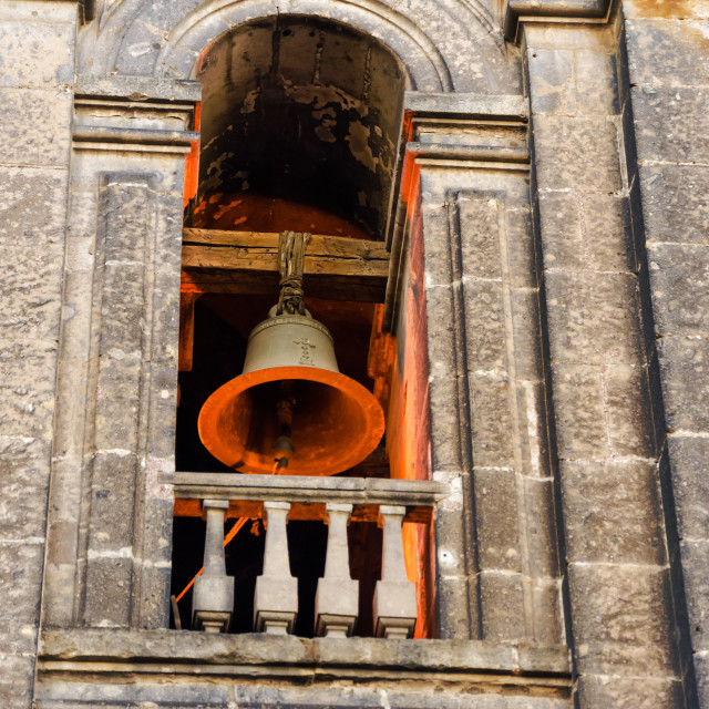 """""""Lit up Bell Tower"""" stock image"""