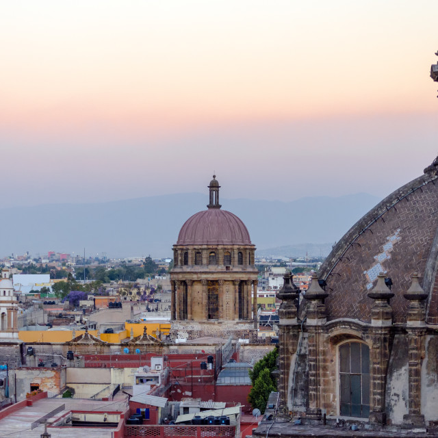 """""""Cathedral Dome and City"""" stock image"""
