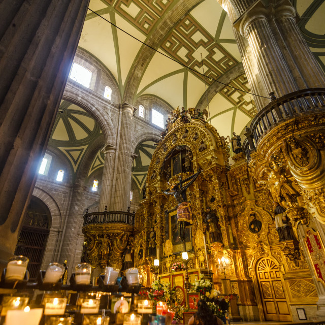 """""""Mexico City Cathedral Interior"""" stock image"""