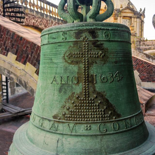 """Old Unused Bell"" stock image"