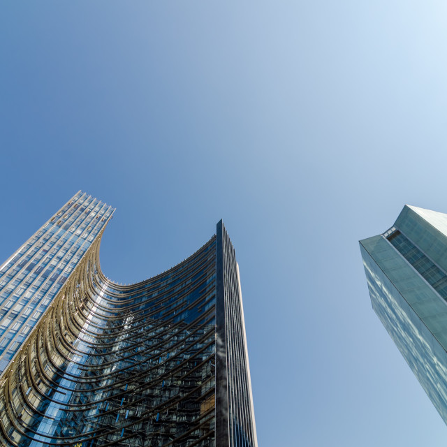 """""""Two Skyscrapers"""" stock image"""