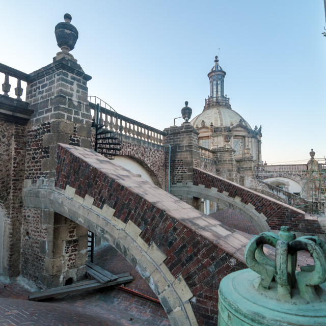 """""""Mexico City Cathedral Roof"""" stock image"""