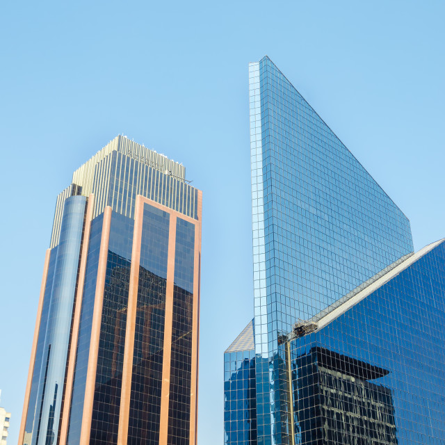 """Shiny Skyscrapers"" stock image"