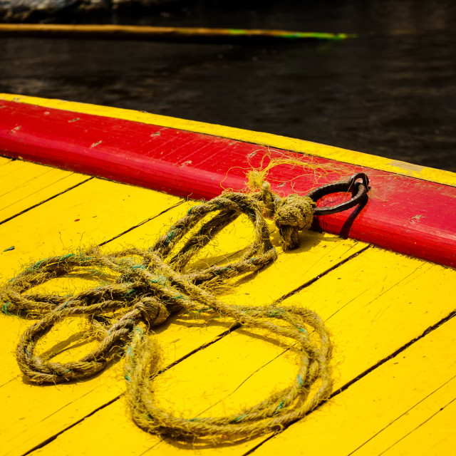 """Closeup Colorful Boat"" stock image"
