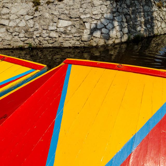 """""""Xochimilco Boats"""" stock image"""