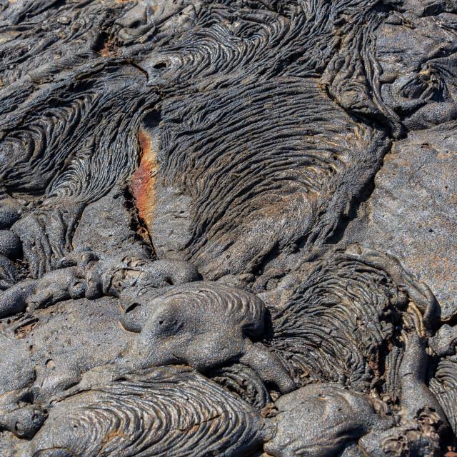 """Dry Lava Flow"" stock image"