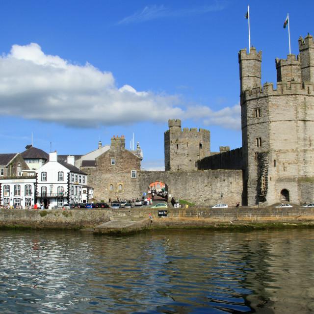 """Caernarfon Castle"" stock image"