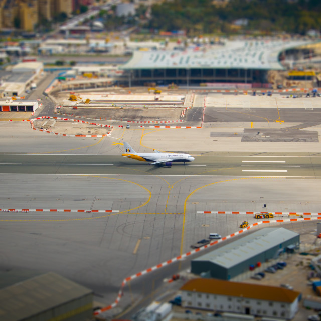 """Gibraltar Airport"" stock image"
