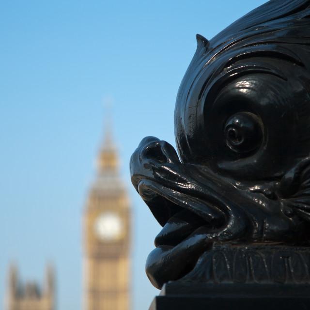 """Fish and Big Ben"" stock image"