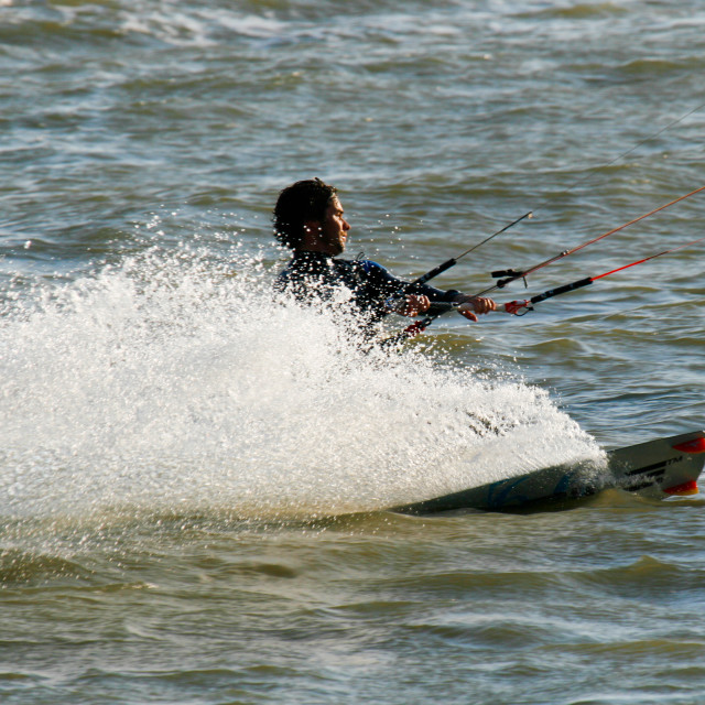 """Kite-surfing Dude"" stock image"
