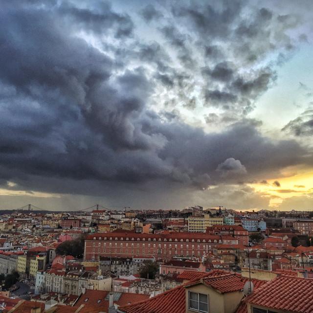 """Moody Lisbon"" stock image"