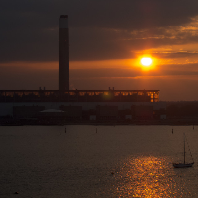 """Powerstation Sunset"" stock image"