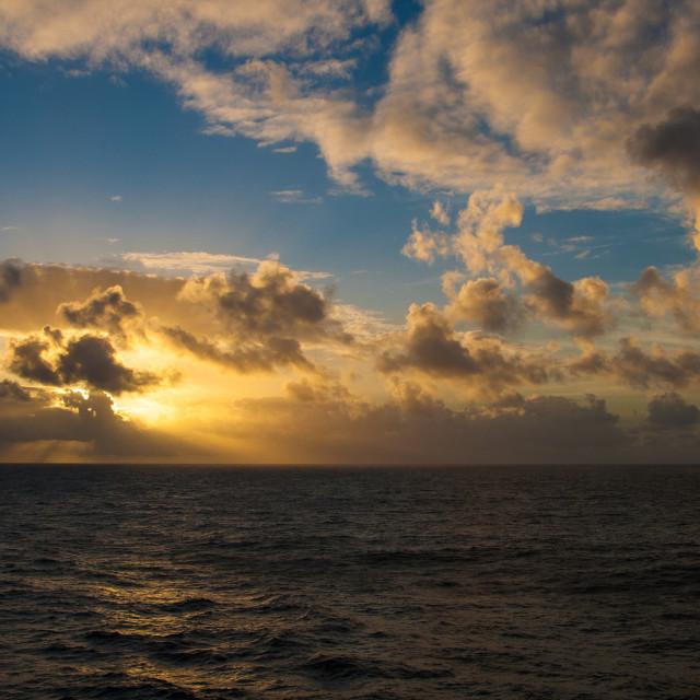 """Sunset at Sea"" stock image"
