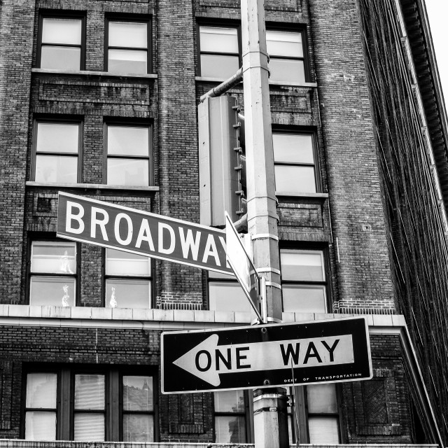 """""""Broadway Sign"""" stock image"""