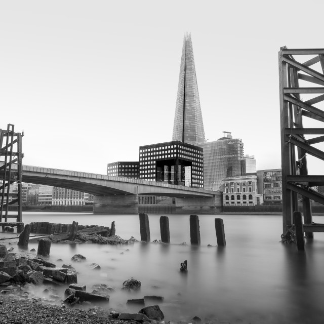 """""""The River Thames And The Shard"""" stock image"""