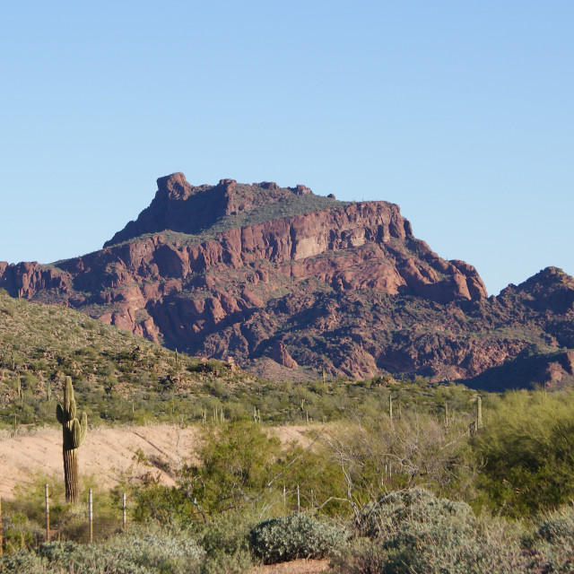 """""""Red mountain,"""" stock image"""