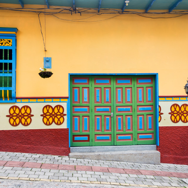 """""""Old Colorful House"""" stock image"""