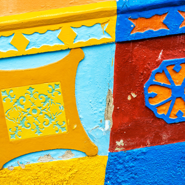 """""""Colorful Building Detail"""" stock image"""