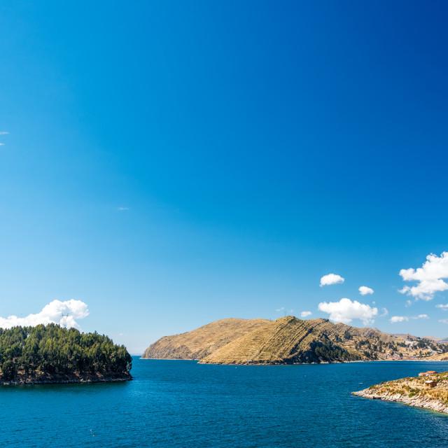 """Lake Titicaca Landscape"" stock image"