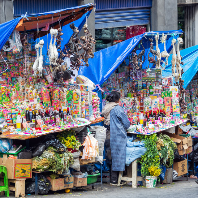 """La Paz Witches Market"" stock image"