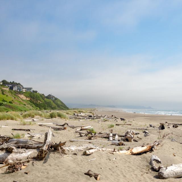"""Lincoln City Beach"" stock image"