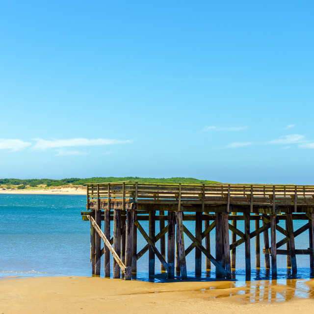 """""""Pier at Lincoln City"""" stock image"""