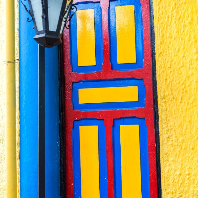 """""""Colorful Door"""" stock image"""