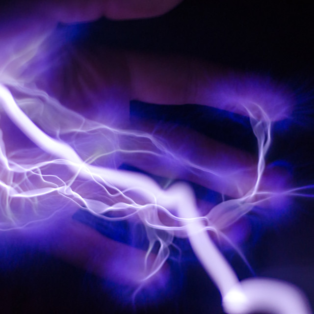 """Electric Hand"" stock image"