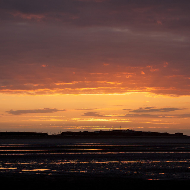 """Hilbre Island Afterglow"" stock image"