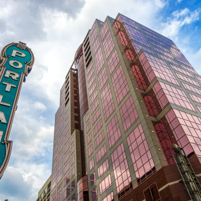 """Iconic Portland Sign"" stock image"