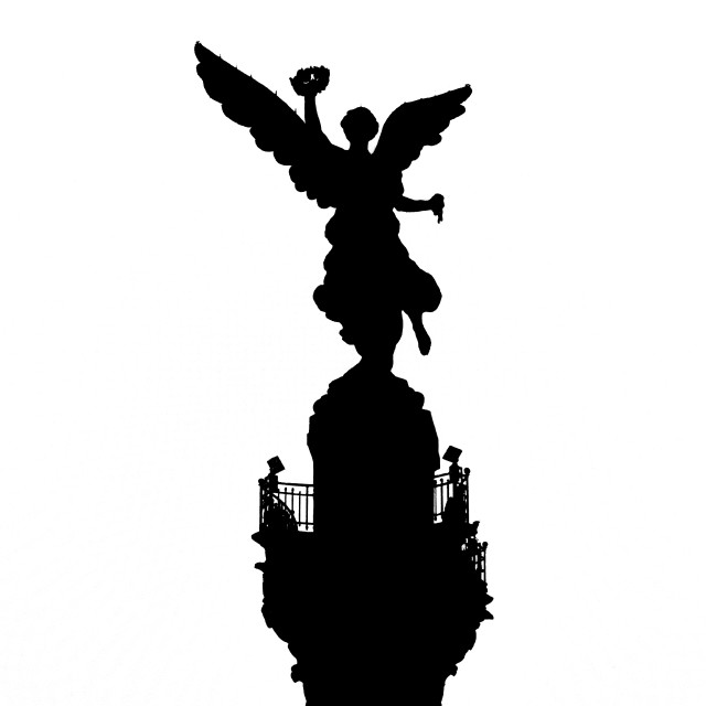 """""""Angel of Independence Silhouette"""" stock image"""
