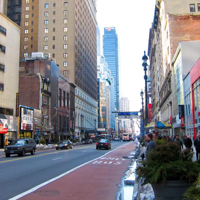 """New York Street"" stock image"