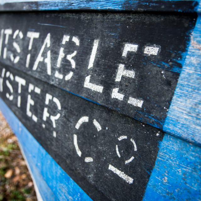 """""""Whitstable Oyster Co. Boat"""" stock image"""
