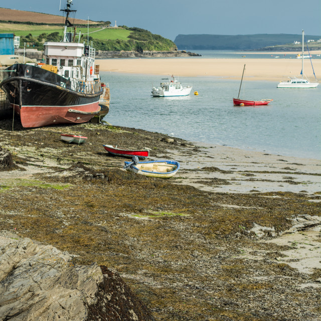 """""""Camel Estuary from Padstow Harbour"""" stock image"""