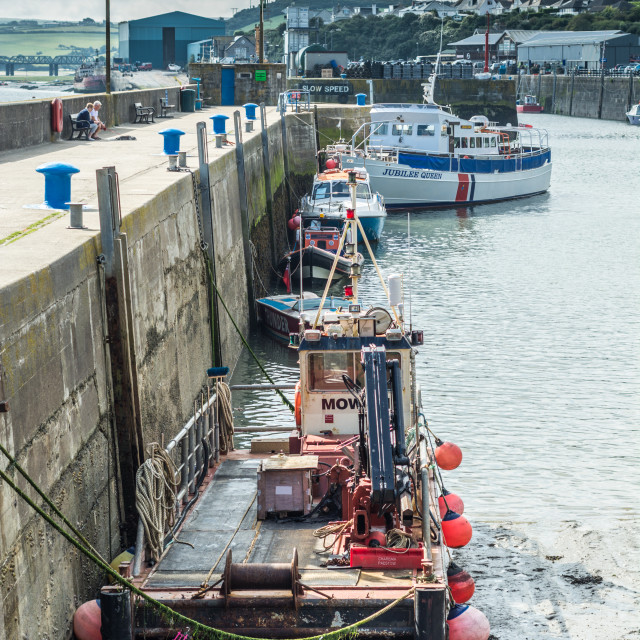 """""""Harbour at Padstow"""" stock image"""